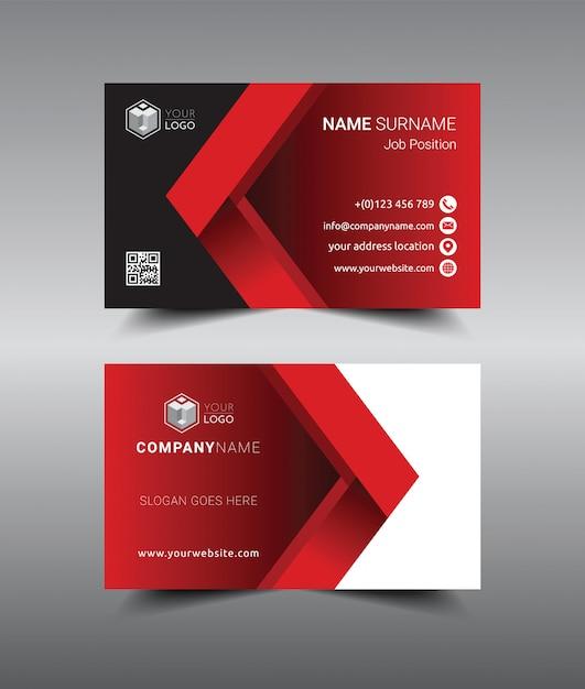 Conception de modèle de carte de visite moderne créative et propre. Vecteur Premium