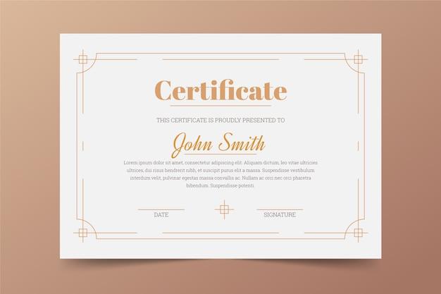 Conception De Modèle De Certificat élégant Vecteur gratuit