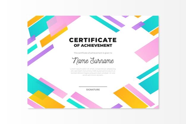 Conception De Modèle De Certificat Géométrique Abstrait Vecteur gratuit