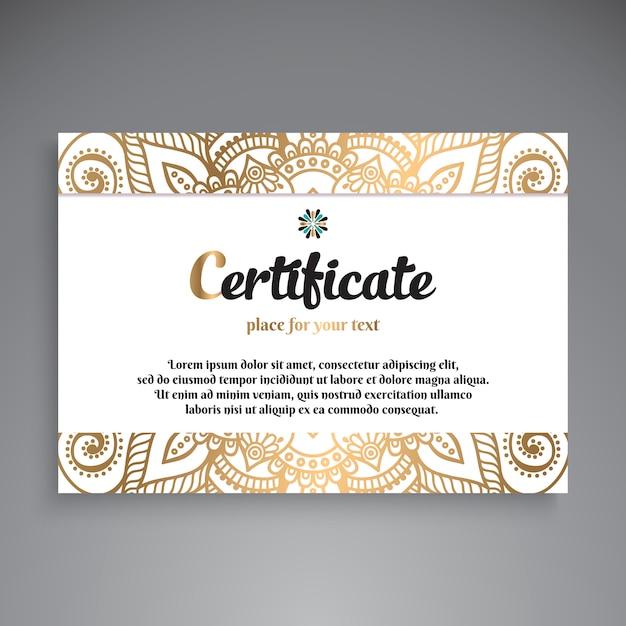 Conception de modèle de certificat professionnel Vecteur gratuit