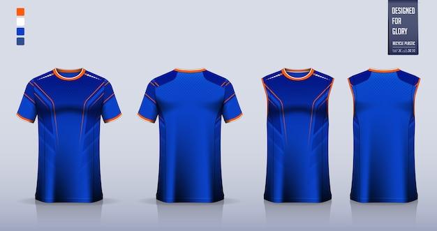 Conception De Modèle De Chemise De Sport T-shirt. Vecteur Premium