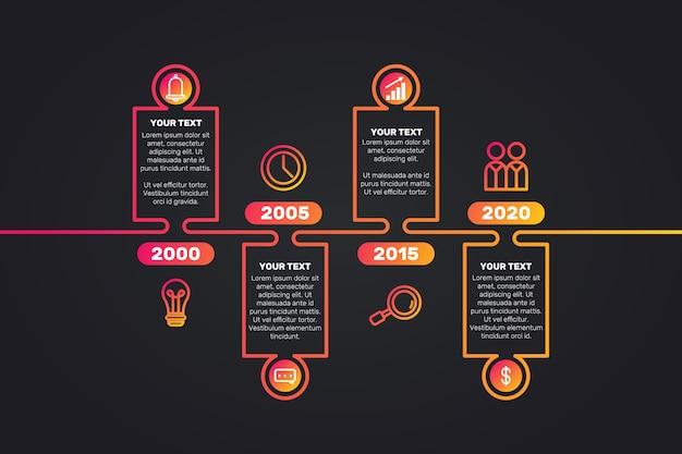 Conception De Modèle De Collection Infographique Chronologie Vecteur gratuit