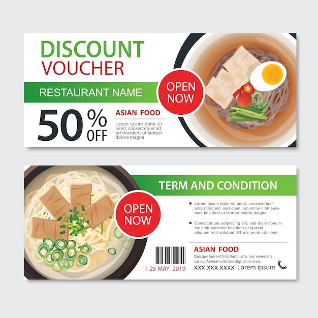 Conception de modèle de cuisine asiatique bon cadeau cadeau discount.noodles set Vecteur Premium