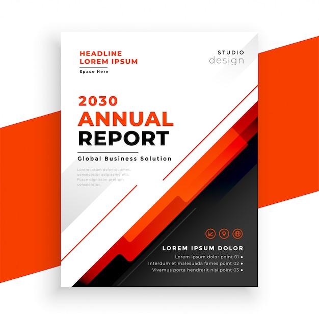Conception De Modèle De Flyer Rouge Rapport Annuel Abstrait Vecteur gratuit
