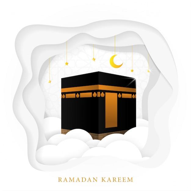 Conception de modèle de fond ramadan karim Vecteur Premium