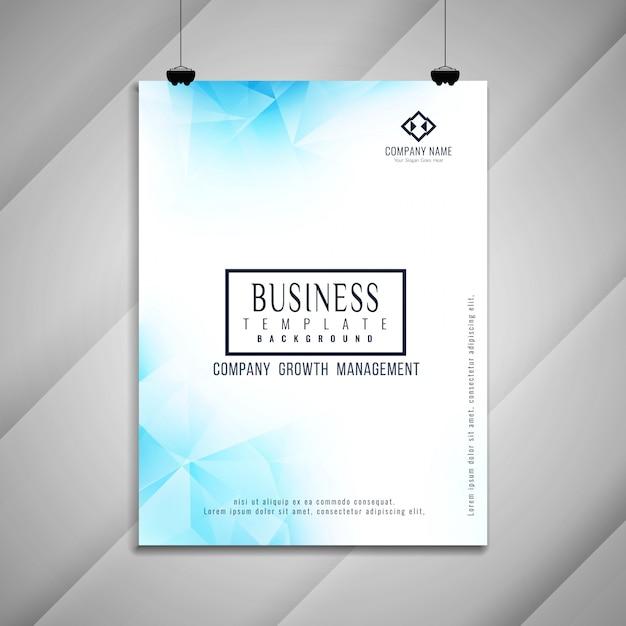 Conception de modèle géométrique brochure entreprise abstrait Vecteur gratuit