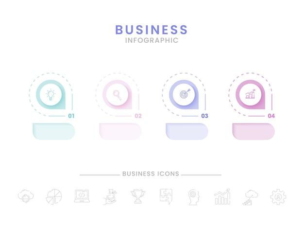 Conception De Modèle D'infographie D'entreprise Vecteur Premium