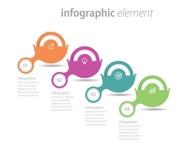 Conception De Modèle Infographie étapes Chronologie Circulaire Vecteur Premium