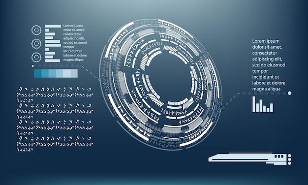 Conception de modèle d'infographie tech Vecteur Premium