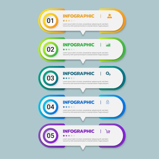 Conception de modèle d'infographie. Vecteur Premium
