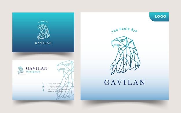 Conception De Modèle De Logo Et Carte De Visite Eagle Vecteur Premium