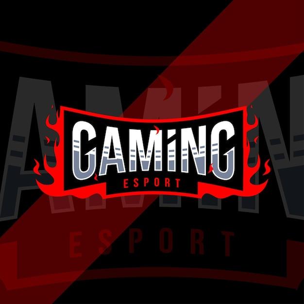Conception De Modèle De Logo Esport De Jeu Vecteur Premium