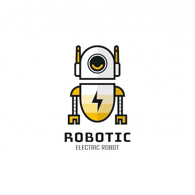 Conception De Modèle De Logo Robotique. Illustration. Logo Et Icônes Abstraites De Robot Web. Logo Du Robot Qui Manque D'énergie. Vecteur Premium