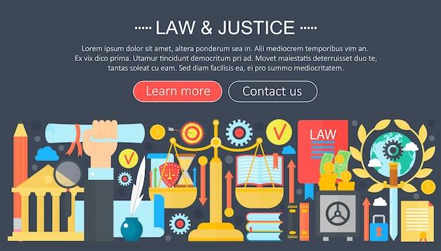 Conception de modèle loi et justice infographie Vecteur Premium