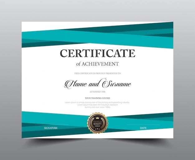 Conception de modèle de mise en page de certificat. luxe et style moderne, oeuvres d'art. Vecteur Premium
