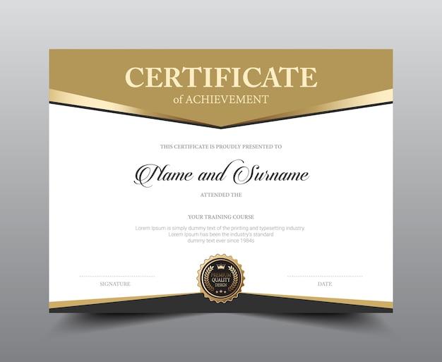 Conception de modèle de mise en page de certificat. Vecteur Premium