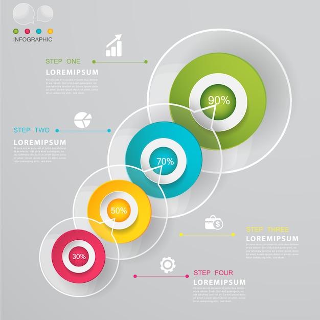 Conception de modèle d'options commerciales modernes. Vecteur Premium