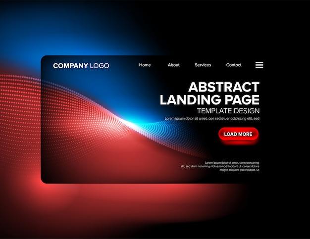 Conception de modèle de page d'atterrissage Vecteur Premium