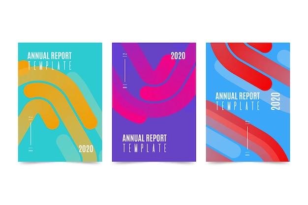 Conception De Modèle De Rapport Annuel Coloré Vecteur gratuit