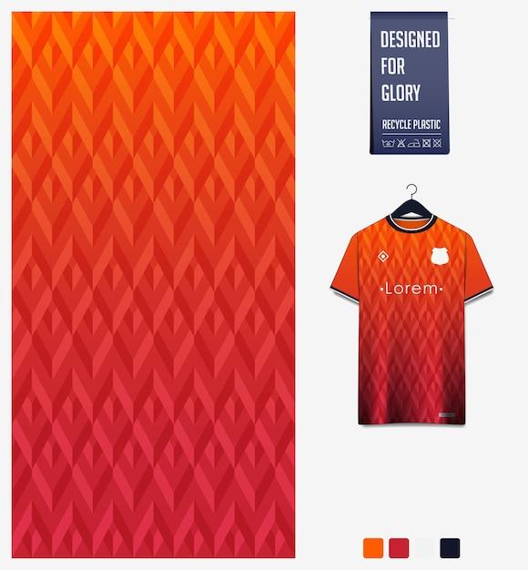 Conception De Modèle De Tissu. Motif Géométrique Pour Maillot De Football, Kit De Football Ou Uniforme De Sport. Vecteur Premium