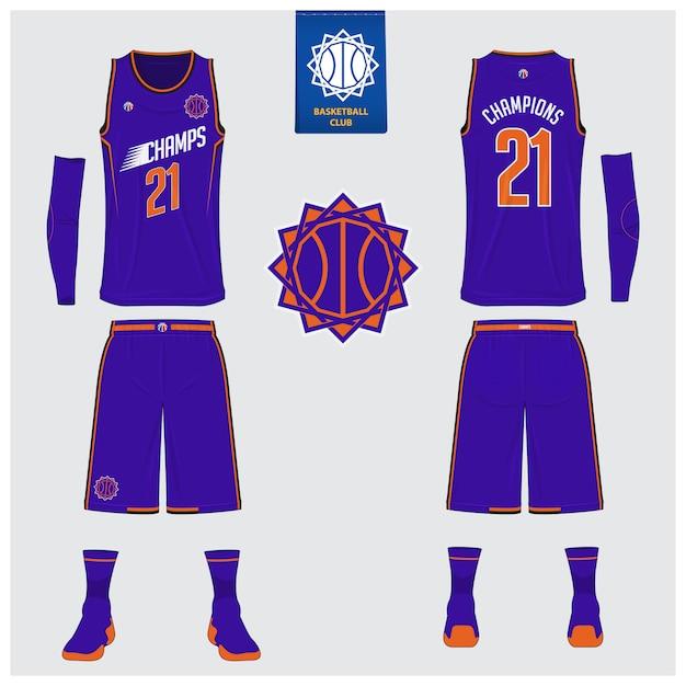 Conception De Modèle Uniforme De Basket-ball. Vecteur Premium