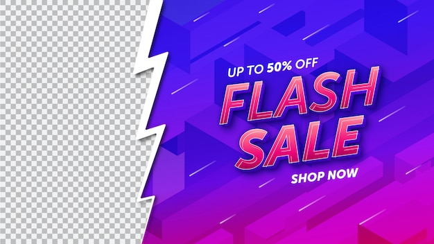 Conception de modèle de vente flash Vecteur Premium