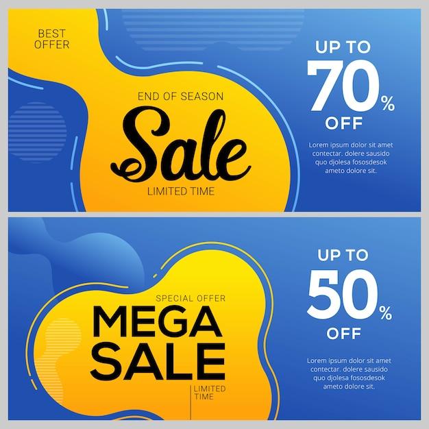 Conception de modèles de bannière de vente. tags d'offre spéciale Vecteur Premium