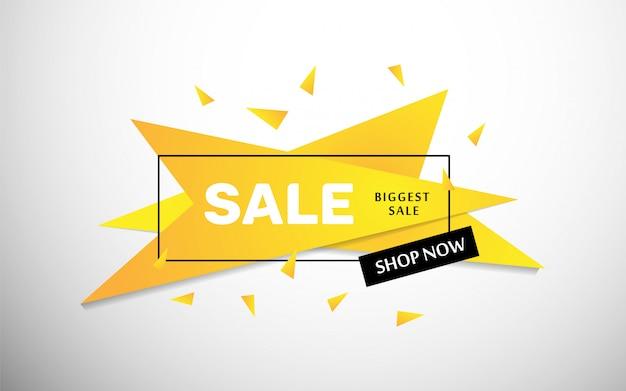 Conception de modèles de bannière de vente Vecteur Premium
