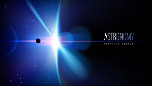 Conception de modèles de thème d'astronomie Vecteur Premium