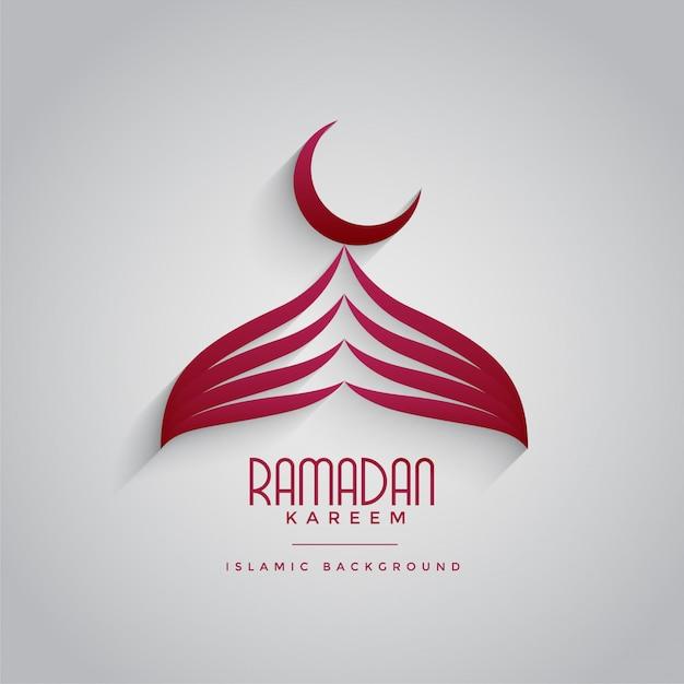 Conception de mosquée créative pour le festival de ramadan kareem Vecteur gratuit