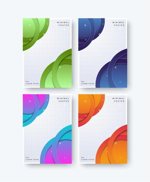 Conception De Motif Abstrait Couvertures Minimales Colorées Vecteur Premium