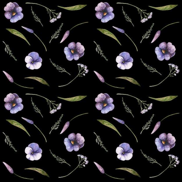 Conception De Motif Floral Sans Soudure Vecteur gratuit