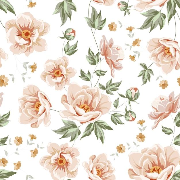 Conception de motif floral Vecteur Premium