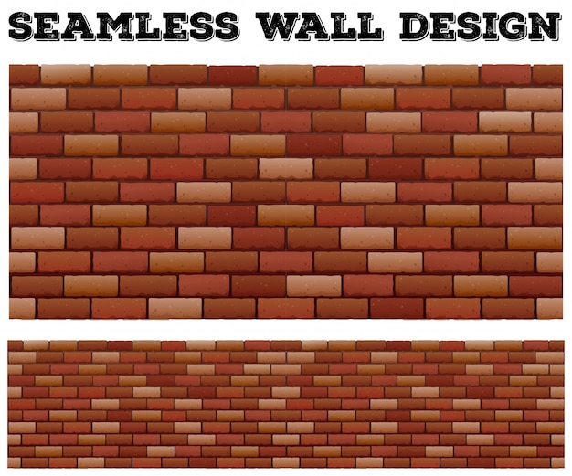 Conception De Mur Brique Sans Soudure