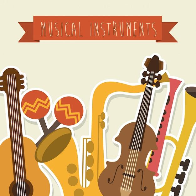 Conception musicale au cours de l'illustration vectorielle fond rose Vecteur Premium