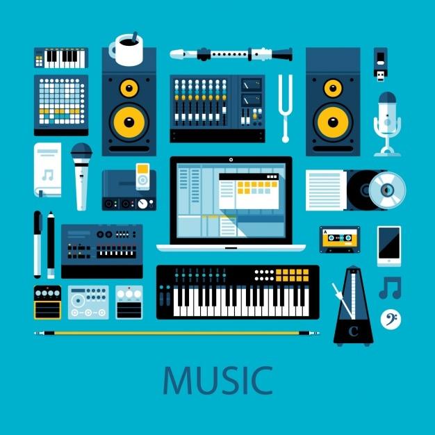 La conception de la musique Vecteur gratuit