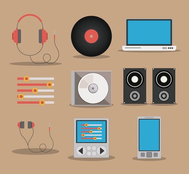 Conception De La Musique Vecteur Premium