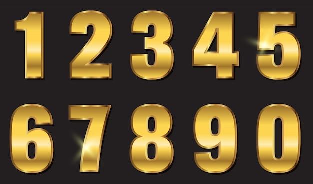 Conception de nombres d'or Vecteur Premium