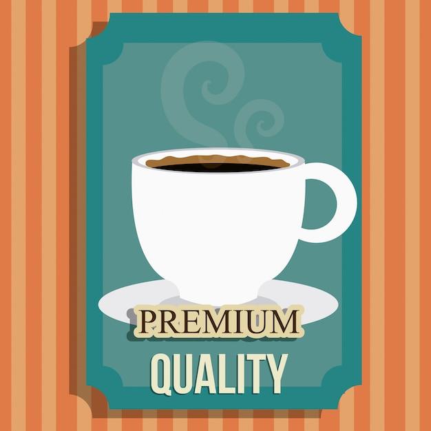 Conception numérique de café. Vecteur Premium