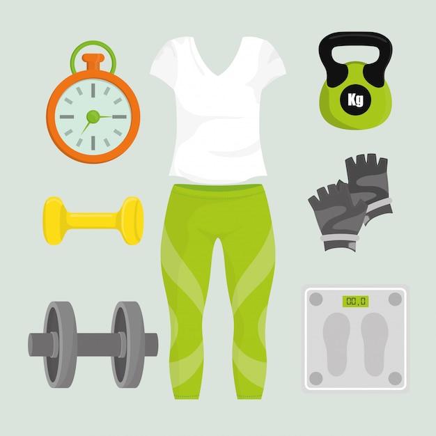 Conception numérique de gym. Vecteur Premium