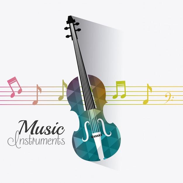 Conception numérique de musique. Vecteur Premium