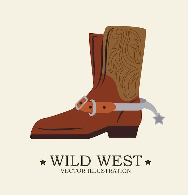 Conception occidentale Vecteur Premium