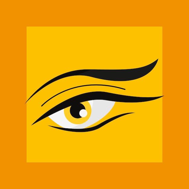 Conception de l'oeil humain Vecteur Premium