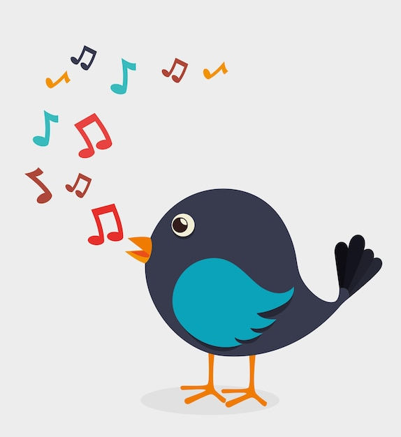 Conception de l'oiseau, illustration vectorielle. Vecteur Premium