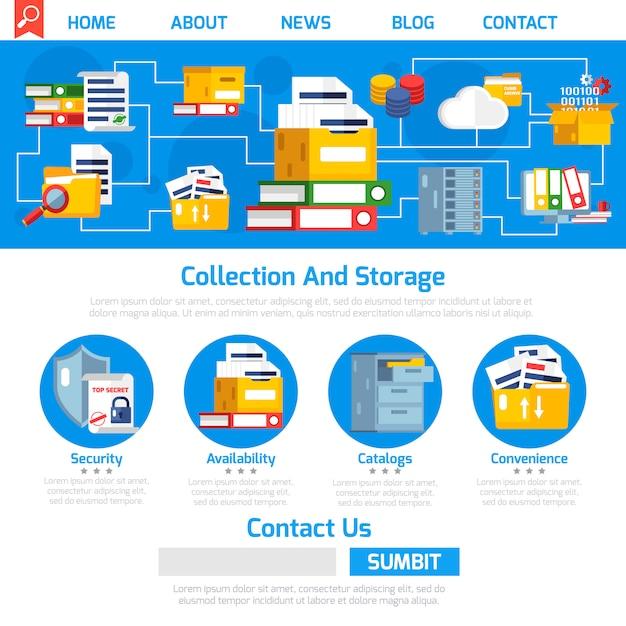 Conception de la page d'archive Vecteur gratuit