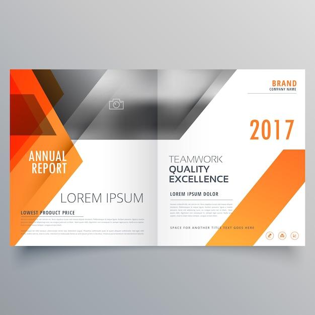Conception de page de couverture du magazine de la marque ou d'une brochure bifold template vecteur Vecteur gratuit