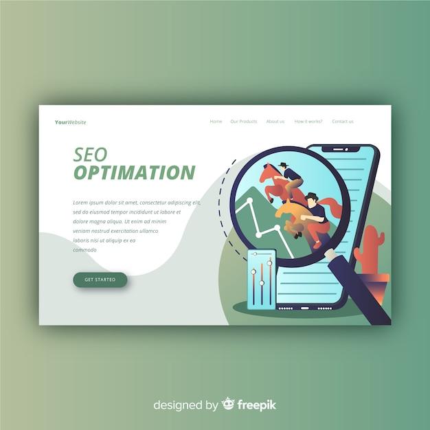 Conception de la page de destination. mocksite Vecteur gratuit