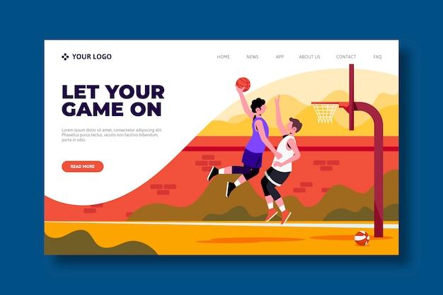 Conception de page de destination de sport en plein air Vecteur gratuit