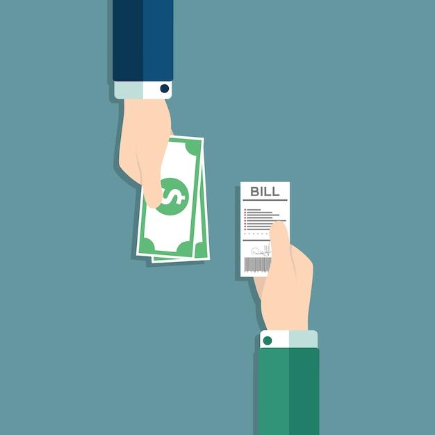 Conception paiement de fond Vecteur gratuit