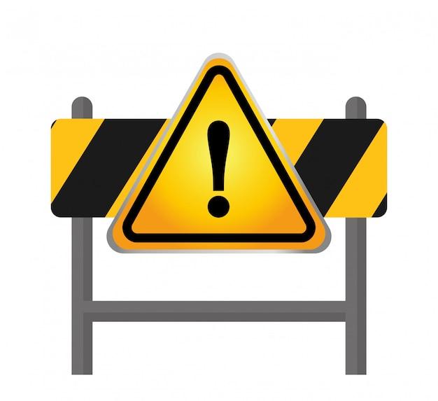 Conception de panneau d'avertissement Vecteur Premium